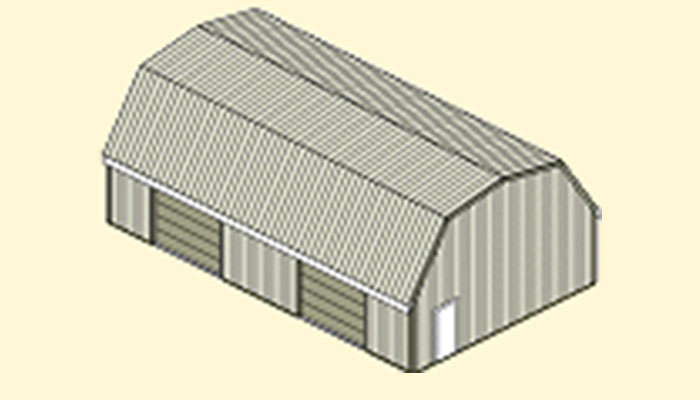 Apm pole barn with gambrel roof for Pole barn specs