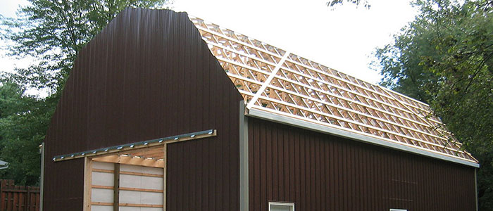 Barn roof truss gambrel roof timber truss for Gambrel roof pole barn