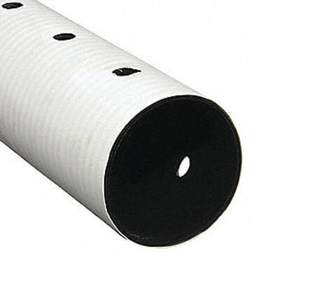 Perforated Sewer & Drain Pipe 4 in. x 10 ft.