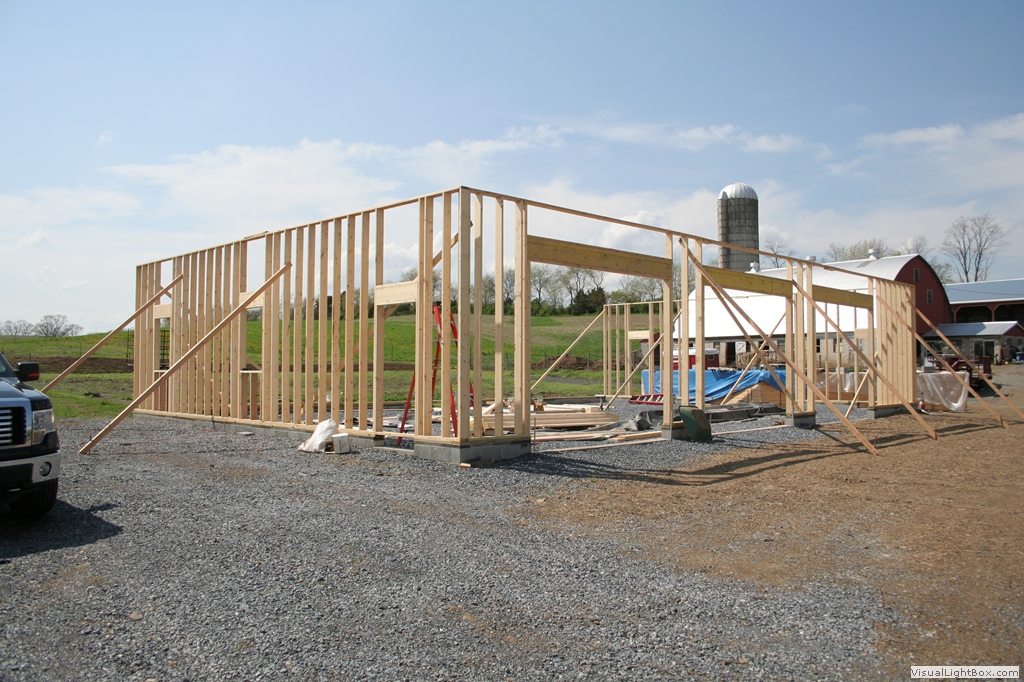Apm garages under construction gallery for Stick built garage plans